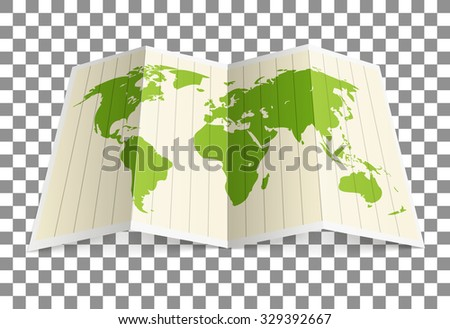 Earth map vector illustration. Infographic elements - stock vector