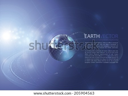 Earth. Modern vector background - stock vector