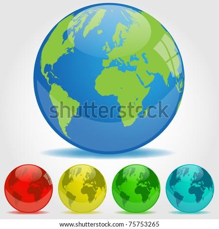 Earth Orbs Illustration - stock vector