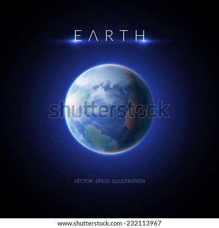 Earth planet. Design concept. Background. Vector Illustration, eps10, contains transparencies. - stock vector