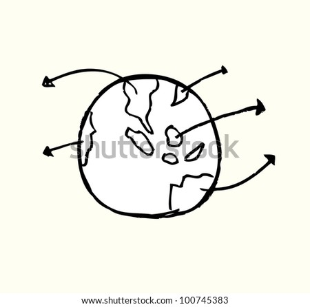 earth strategy business - stock vector