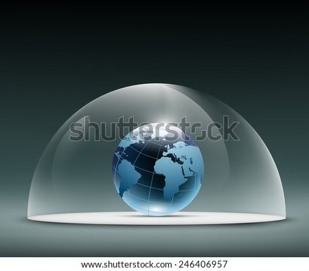 Earth under the dome - stock vector