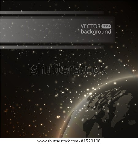 Earth vector background - stock vector