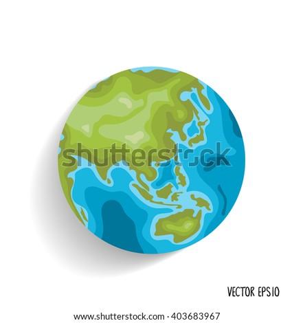 Earth. Vector illustration. - stock vector