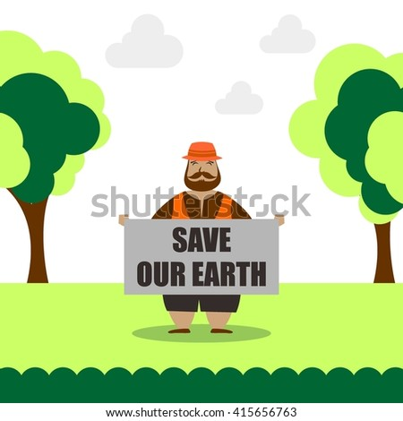 Earthday illustration template Template - stock vector