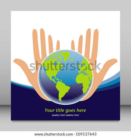 Earths future in our hands vector. - stock vector