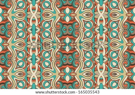 east seamless pattern, decorative ornamental background vector - stock vector