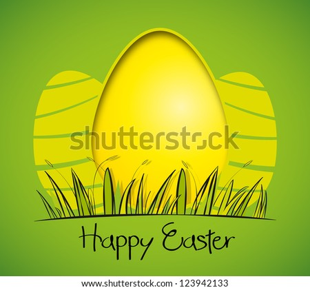 easter background with eggs vector illustration - stock vector