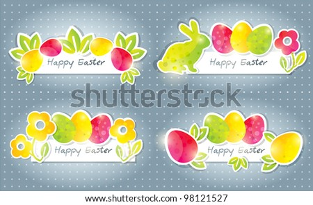 Easter banners, vector - stock vector