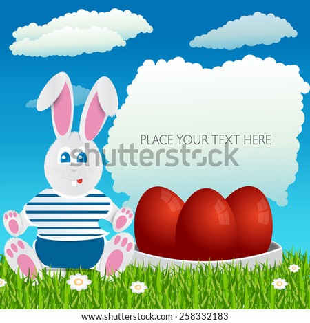 Easter bunny. Happy Easter. Easter eggs.uskrs - stock vector