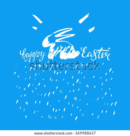 Easter Bunny Lettering 05 A - stock vector