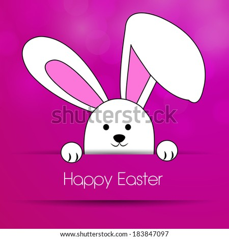 Easter Bunny on a purple background for Easter - stock vector