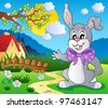 Easter bunny theme image 5 - vector illustration. - stock vector