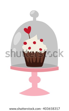 Easter cake, colored egg spring easter celebration and seasonal easter cake with traditional egg. Traditional easter cake white sweet icing, sprinkles, holliday burning candle and colorful egg vector. - stock vector