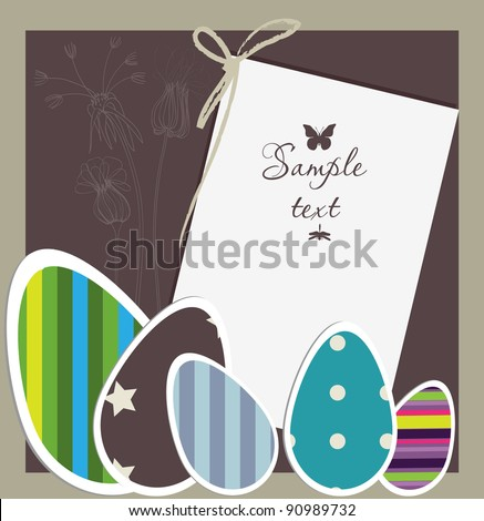 Easter card - stock vector