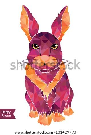 Easter card in vector format. - stock vector