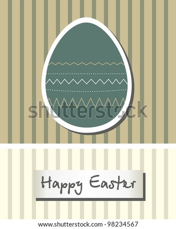 Easter card with egg - stock vector