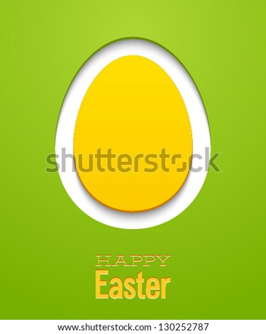 Easter card with egg. Vector illustration. - stock vector