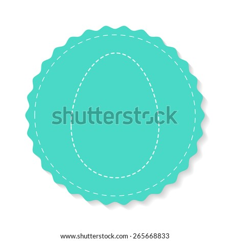 Easter card with place for text. Design template. - stock vector