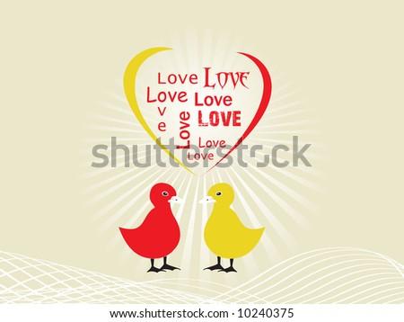 easter chicks vector illustration - stock vector
