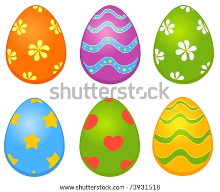 Easter colored egg. Easter card - stock vector