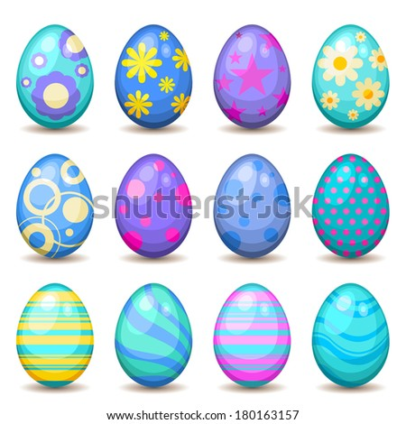 Easter egg collection - stock vector