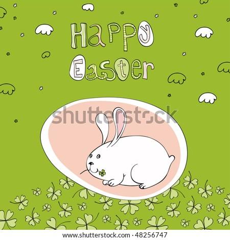 Easter egg greetings. - stock vector