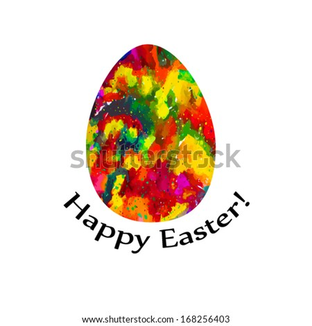 Easter egg of ink spots. Happy Easter! Vector  - stock vector
