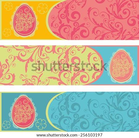 Easter egg seamless vector background  - stock vector