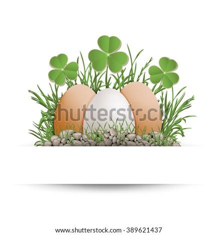 Easter egg shamrock vector - stock vector
