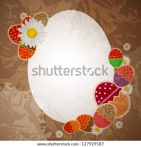 Easter eggs card with colourful eggs. vector illustration - stock vector