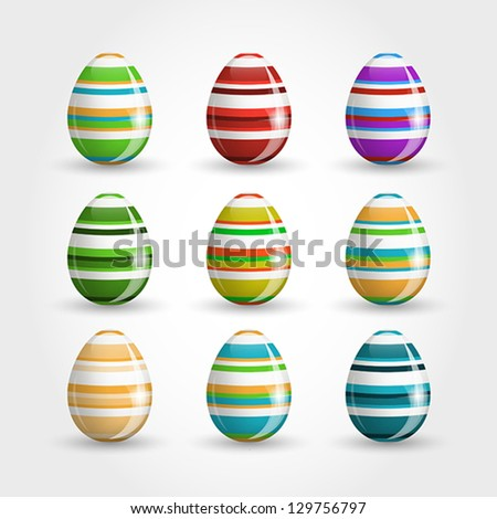 easter eggs, easter and spring concept, - stock vector