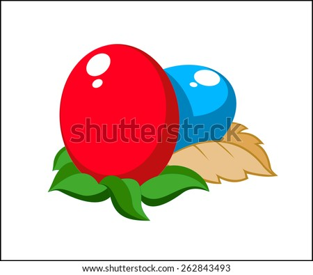 Easter eggs, easter egg, easter rabbit, holidays easter - stock vector