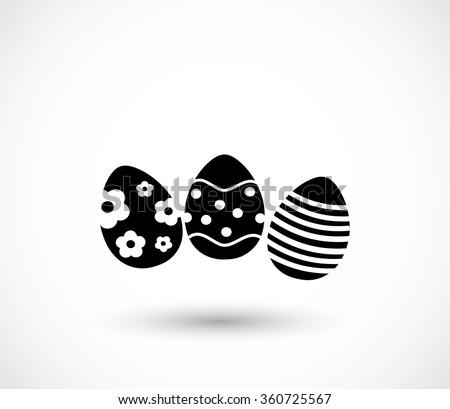 Easter eggs icon vector - stock vector