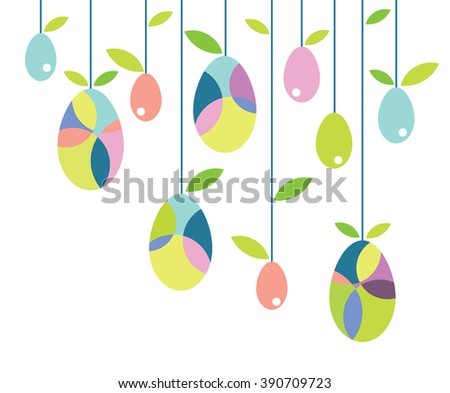 Easter eggs vector icons flat style - stock vector