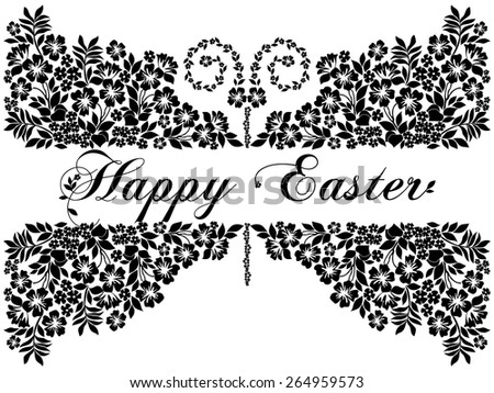Easter Greeting Card with butterfly. Vector illustration for your spring happy holiday design.  - stock vector