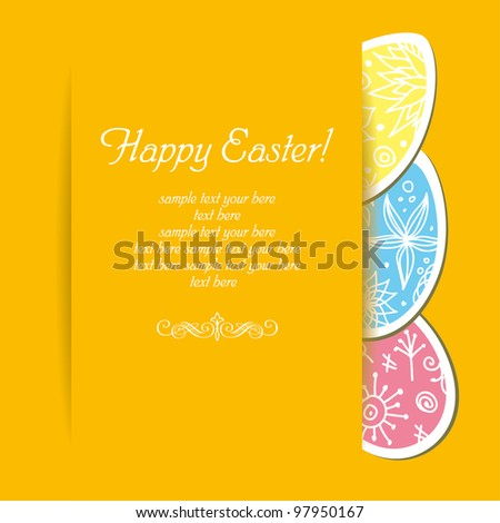Easter holiday vector background - stock vector