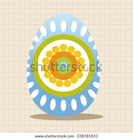 easter painting egg theme elements vector,eps - stock vector
