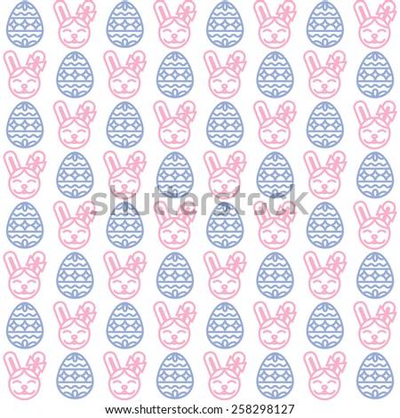 Easter pattern - stock vector