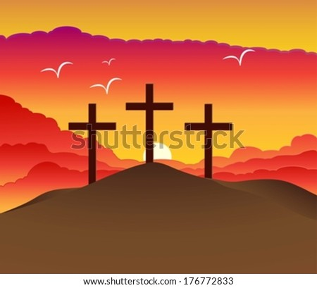 easter resurrection eps10 - stock vector