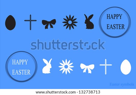 Easter symbols. Happy Easter - stock vector
