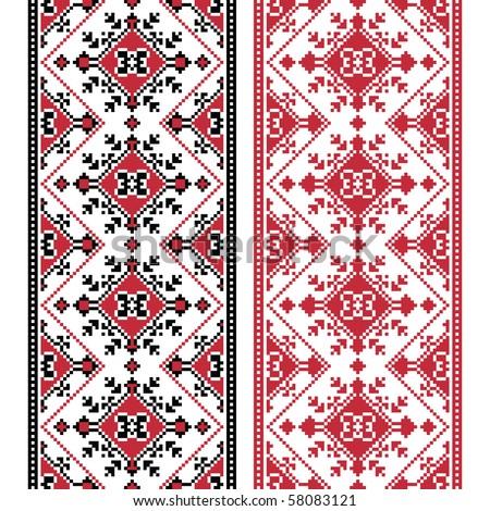 Eastern Europe folk motif - stock vector