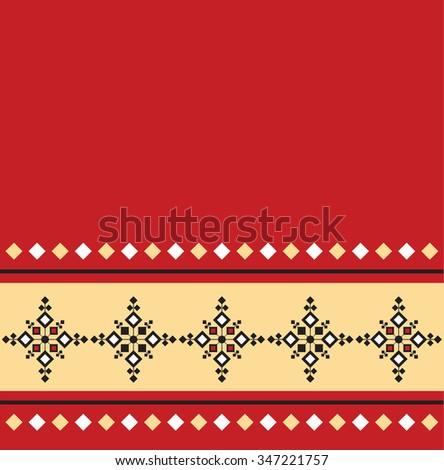 Eastern Folk pattern design - stock vector