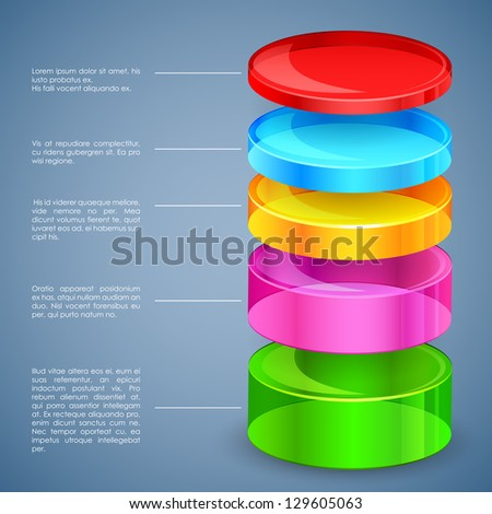 easy to edit vector illustration of business graph - stock vector
