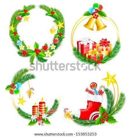 easy to edit vector illustration of Christmas decoration - stock vector