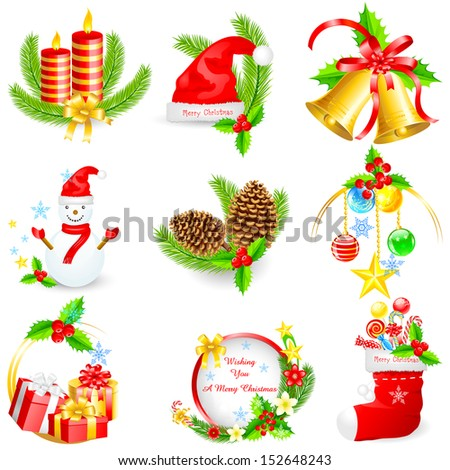 easy to edit vector illustration of Christmas object - stock vector