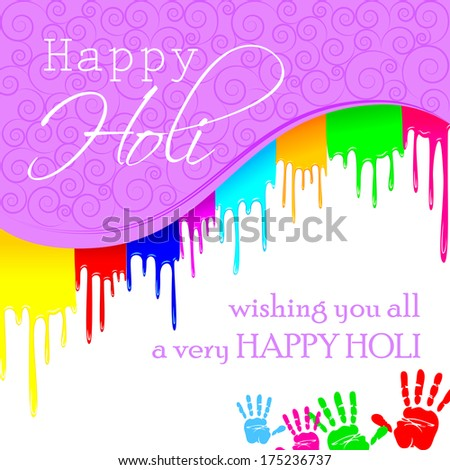 easy to edit vector illustration of colorful Holi background - stock vector