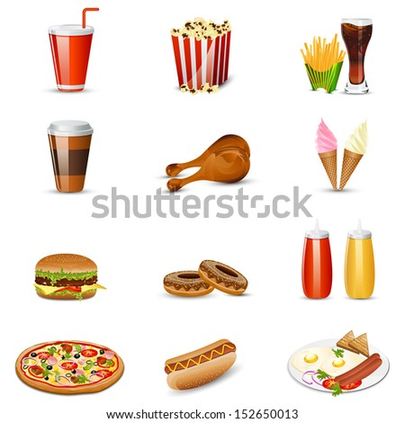 easy to edit vector illustration of fast food item - stock vector