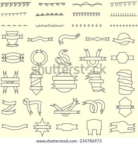 easy to edit vector illustration of ribbon banner - stock vector