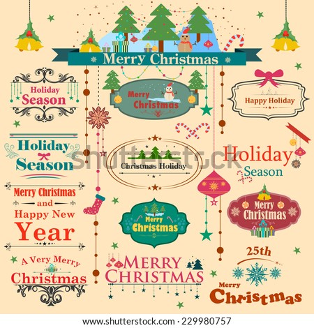 easy to edit vector illustration of Symbol of colourful Christmas - stock vector